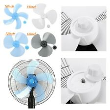 """12/16"""" Fan Blade 3/5 Leaves with Nut Cover for Standing Pedestal or Table Fan Us"""