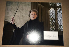 SIGNED MAGGIE SMITH 16x12 HARRY POTTER PROFFESSOR MCGONAGALL RARE AUTHENTIC