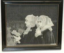 Antikes Seidenbild von Elisabeth Sonrel