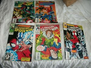 amazing spider man comic lot very good books 1990s