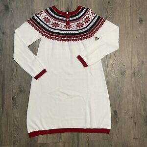 Gymboree Picture Perfect Girls Christmas Sweater Dress Size 12 with Tags