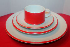 CONTEMPO FROST  Red & White  4 Piece Place Setting  -  JAPAN