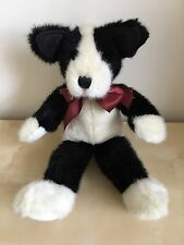 Boyds Bears In The Attic Philo Puddlemaker Black White Plush Dog 13""