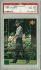 Tiger Woods 2002 Upper Deck UD Golf Leaderboard PSA 10 Gem Mint *POP28* (2YR RC)