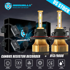 H13 9008 Super Bright LED Headlight Bulb High Low Beam 6000K Canbus Error Free
