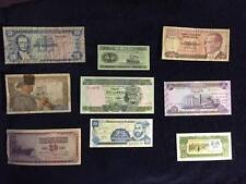 NINE-PIECE LOT, WORLD BANKNOTES ~ MOST UNCIRCULATED  - Code (V)