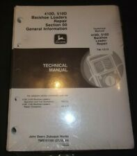 JOHN DEERE 410D 510D BACKHOE LOADER TECHNICAL SERVICE REPAIR MANUAL BOOK TM1513