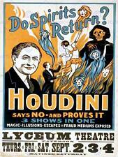 HARRY HOUDINI THE MAGICIAN VINTAGE ADVERTISING POSTER ART PRINT 517PY