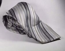 New Hand Made Classic Length Alexander Julian Colours Silver Designer Necktie