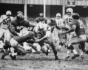 1958 Baltimore Colts ALAN AMECHE vs Giants Glossy 8x10 Photo NFL Championship
