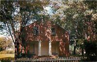 Mooresville AL Ante-Bellum Methodist (Baptist) Church Over Picket Fence 1950s pc