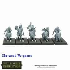 28mm Halfling Goat Riders With Spears, Warlord Games, Warlords Of Erehwon, BNIB