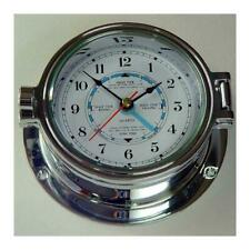 Nautical Tide Clock, Polished Chrome