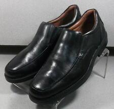 209571 MS50 Men's Shoes Size 9 M Black Leather Slip On Johnston & Murphy