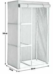 Argos Home Covered Metal Frame Single Fabric Wardrobe - Cream