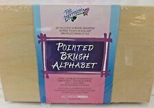 Alphabet Rubber Stamp Set Pointed Brush Letter Style Wood Mount Posh Impression