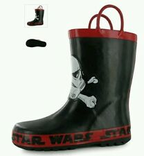 Star Wars Boys Wellington Boots, l Childs Wellies - Black  - C6 - 23