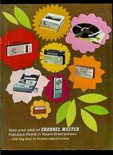 Channel Master 1967 Radio Tape Recorder TV Walkie Talkie Vintage Dealer Brochure