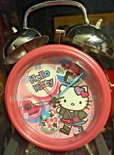 "HELLO KITTY PINK  ALARM CLOCK 7""  TALL PRE-OWNED"