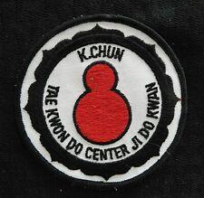 """c.1972 """"K. Chun Taekwondo Jidokwan Center"""" Korean Martial Arts Patch"""