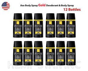 12 x Axe Body Spray GOLD & Body Spray 48H FRESH 150ml