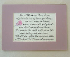 God Made MOTHER IN LAW Special FRIENDS Loving RARE True Dear verses poem plaques
