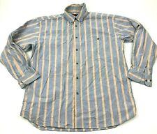 VINTAGE Wrangler 20X Button Up Shirt Size Extra Large XL Blue Long Sleeve Stripe