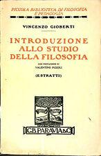 INTRODUZIONE ALLO STUDIO DELLA FILOSOFIA DI VINCENZO GIOBERTI