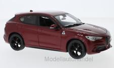 Alfa Romeo Stelvio, metallic-rot  - 1:24 BBurago / burago  *NEW*