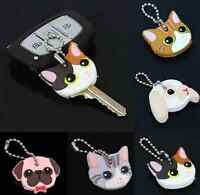 Keychain Case Cartton Key Ring Cap Head New Durable Silicone Case Protection hom