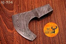 CUSTOM MADE HAND FORGED DAMASCUS STEEL AXE HEAD - AJ 934