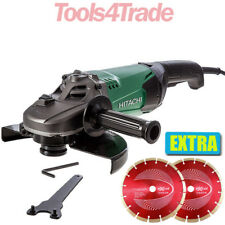 "Hitachi G23ST 230mm / 9"" Angle Grinder 2000W 110V + Extra 2 Diamond Wheels"