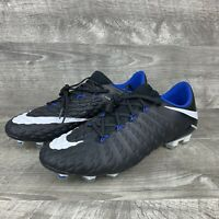 Nike Hypervenom Phantom III FG ACC Black Size 9.5 Blue Soccer Cleats 852567-002