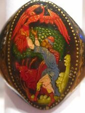 "VTG 1979 Russian Hand Painted ""FIREBIRD"" Palekh Ring, Signed, Size 8-1/4"