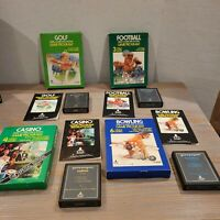 Lot of 9 Atari 2600 CX CIB Manual Asteroids Breakout Bowling Black Jack + more