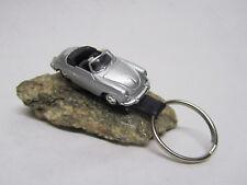 Schlüsselanhänger Porsche 356B Cabrio Silber 1:87 HO Welly Sonderanfertigung NEU