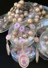 12 Baby Shower Favors Bracelet Rosaries,Gift,Recuerdos,niña,Girl,Party,itsa girl