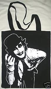 THE ADICTS BLACK COTTON TOTE BAG MONKEY PUNK ROCK SHOPPER 1977 DROOGS