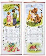 Baby Birth Year Keepsake Gift Daughter 2014-2015 Wall Calendar Cat Dog Boy Girl