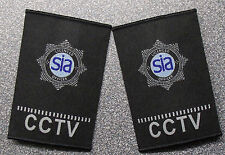 SIA CCTV Security Officer Epaulettes with Logo