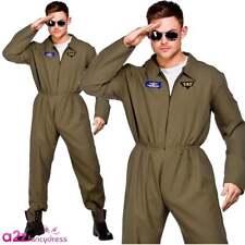 XL Mens Top Shot Pilot Costume for Airline Pilots Crew Fancy Dress Mans Male