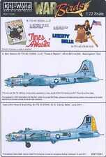 Kits World Decals 1/72 B-17G FLYING FORTRESS Liberty Belle & Times A Wastin