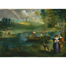 Wooden Jigsaw Puzzle 500 PCS Fishing Edouard Manet Painting Collectibles Decor