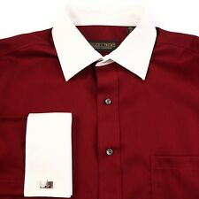 Donald Trump Non Iron Two Tone Contrast Collar French Cuff Dress Shirt NEW $60