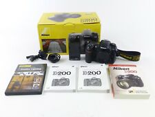 Nikon D200 Body with a Shutter Count of 10,391 in OEM Box & Accessories, EC.