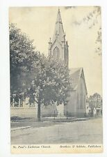Alexandria KY St. Paul's Lutheran Church—Rare Antique Campbell County PC 1910s