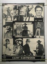 Clint Eastwood Collage Original Poster Vintage Pin-up Movie 1970s Cowboy Western