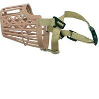 Bozal cerrado de plástico tipo canasta para perros XXXL 61 cm (50.5-56.5 cm)