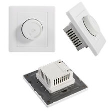 1 Gang 1 way Rotary Wall Dimmer Control for lamps LED Light Switch 220V Whitre