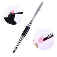UV Poly Polish Gel Nail Art Pen Slice Brush Dual-Ended Slice Shape Tool Polish
